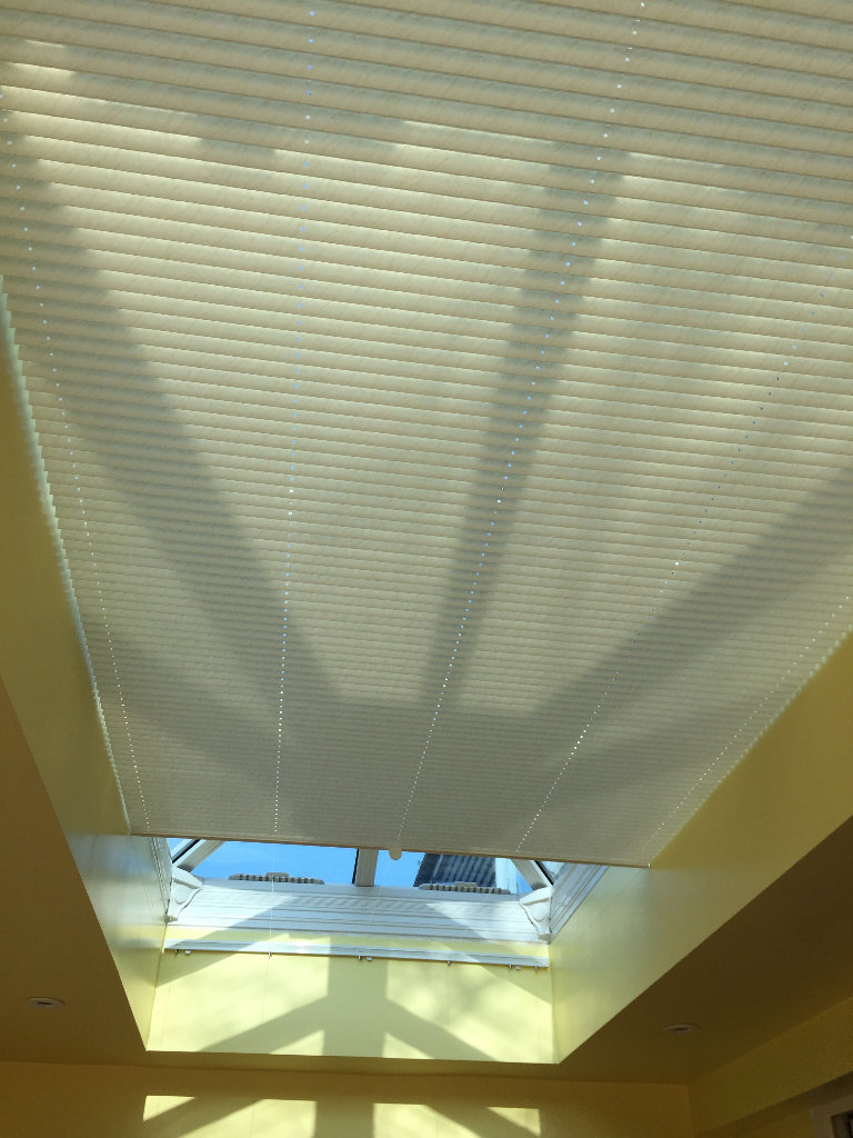 Pleated Roof Blinds Worthing Chichester Crawley Dorking